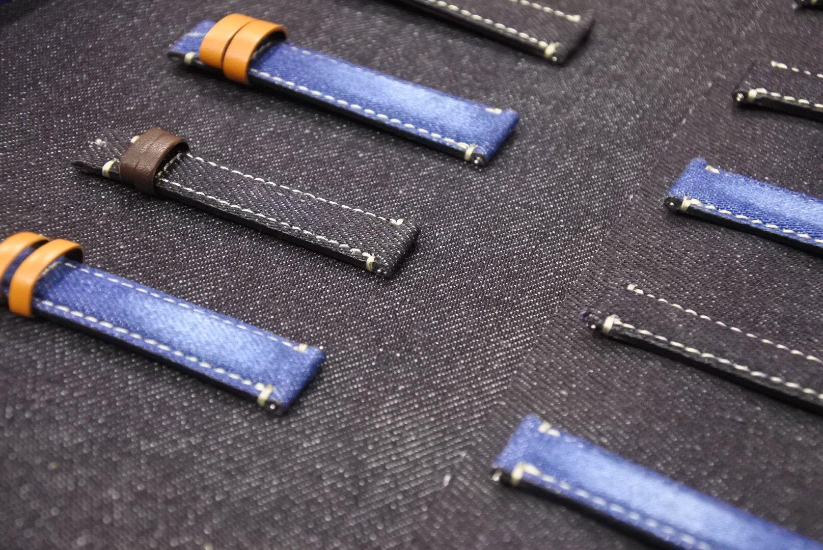 「カスタム腕時計マニア」に岡山デニムを使用した新作が掲載